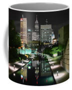 Indianapolis Canal Night View Coffee Mug