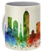 Indianapolis Skyline Panorama Usinin-pa03 Coffee Mug