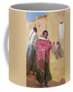 Indians Outside Taos Pueble Coffee Mug