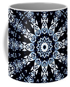 Indigo Flow Blue Kaleidoscope Coffee Mug