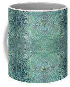 Indigo Lotus Lace Pattern 1 Coffee Mug