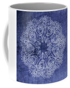 Indigo Mandala 1- Art By Linda Woods Coffee Mug