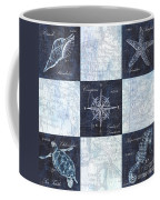 Indigo Nautical Collage Coffee Mug