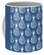 Indigo Pineapple Party Coffee Mug