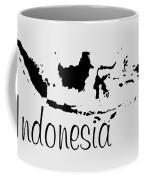 Indonesia In Black Coffee Mug