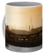 Industrial Foggy Chicago Skyline Coffee Mug