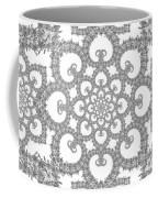Infinite Lily In Black And White Coffee Mug