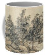 Ink Painting Landscape Bamboo Forest Rivers Coffee Mug