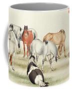 Ink Painting Stud Of Horses Coffee Mug