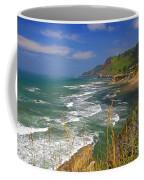 Inlet At Devils Punchbowl State Park Oregon  Coffee Mug