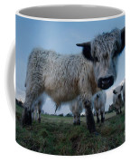Inquisitive White High Park Cow Coffee Mug