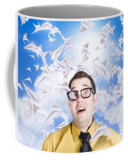 Insane Business Man With Busy Travel Schedule Coffee Mug