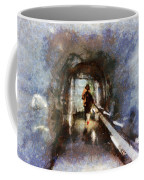 Inside An Ice Tunnel In Switzerland Coffee Mug