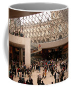 Inside Louvre Museum Pyramid Coffee Mug