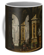 Inside Of The Palace With Soldiers Coffee Mug