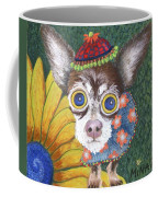 Inside Van Gogh Gardens Sits Sunflower Sally Coffee Mug