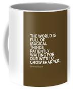 Inspirational Quotes Series 010 Bertrand Russell Coffee Mug