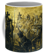 Interior With Elegant Figures Singing And Making Music By Candle Light Coffee Mug