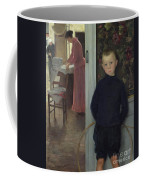 Interior With Women And A Child Coffee Mug