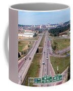 Interstate 74 West At Exit 95b, Route 116 East Exit, 1975  Coffee Mug