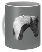 Intrigued - Black And White Coffee Mug