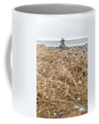 Inukshuk At Lawrencetown Beach, Nova Scotia Coffee Mug