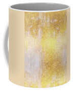 Iridescent Abstract Non Objective Golden Painting Coffee Mug