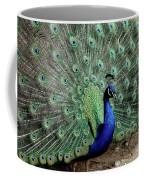 Iridescent Blue-green Peacock Coffee Mug