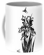 Iris Flower And Butterfly Coffee Mug