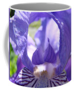 Iris Flower Purple Irises Floral Botanical Art Prints Macro Close Up Coffee Mug