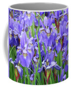 Iris Flowers Artwork Purple Irises 9 Botanical Garden Floral Art Baslee Troutman Coffee Mug