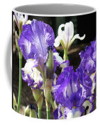 Iris Flowers Floral Art Prints Purple Irises Baslee Troutman Coffee Mug