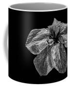 Iris In Black And White Coffee Mug
