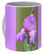 Iris In Summer Rain  Coffee Mug
