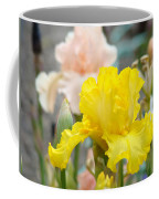 Irises Botanical Garden Yellow Iris Flowers Giclee Art Prints Baslee Troutman Coffee Mug