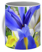 Irises Flowers Artwork Blue Purple Iris Flowers 1 Botanical Floral Garden Baslee Troutman Coffee Mug