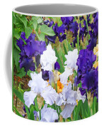 Irises Flowers Garden Botanical Art Prints Baslee Troutman Coffee Mug