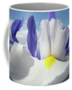 Irises White Iris Flowers 15 Purple Irises Art Prints Floral Artwork Coffee Mug