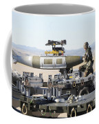 Irman Assists In Lowering A Guided Bomb Coffee Mug