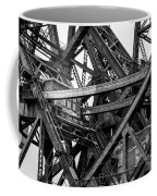Iron Bridge Close Up In Black And White Coffee Mug