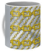 Iron Chains With Brushed Metal Texture Coffee Mug
