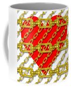 Iron Chains With Heart Texture Coffee Mug