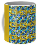 Iron Chains With Mosaic Seamless Texture Coffee Mug