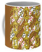 Iron Chains With Playing Cards Seamless Texture Coffee Mug