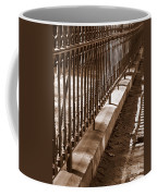 Iron Fence With Shadows Coffee Mug