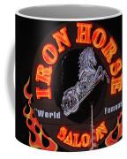 Iron Horse Saloon In Neon Coffee Mug