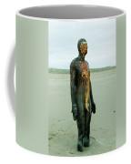 Iron Man Front, Crosby Beach Liverpool Coffee Mug