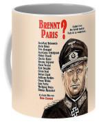 Is Paris Burning Gert Frobe As General Dietrich Von Chlitz German Theatrical Poster 1966 Coffee Mug