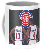Isiah Thomas And Joe Dumars Coffee Mug