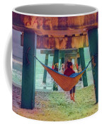 Island Dreams Under The Pier Watercolors Painting Coffee Mug